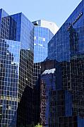 Glass Buildings Framed Prints - Tall glass city of Montreal Framed Print by Pierre Leclerc