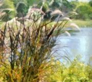 Fuzzy Digital Art - Tall Grasses by Paulette Wright