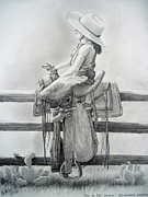 Rick Mittelstedt Art - Tall in the Saddle by Rick Mittelstedt