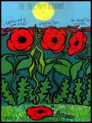 Artists For A Pristine Planet Painting Posters - Tall Poppy Syndrome Poster by Angela Treat Lyon