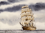 Nautical Greeting Card Prints - Tall Ship Adventure Print by James Williamson