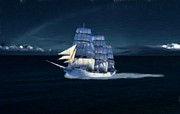 Nautical Digital Art Originals - Tall Ship by Garry Staranchuk