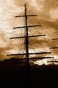 Mast Adventure Prints - Tall ship mast Print by Gaspar Avila