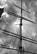 Masts Metal Prints - Tall Ship Masts Metal Print by Robert Ullmann