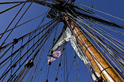 American Flag Framed Prints - Tall Ship Rigging Framed Print by Garry Gay
