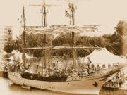 Wooden Ship Art - Tall Ship Series 6 by Scott Hovind