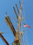 Wooden Ship Metal Prints - Tall Ship Series 8 Metal Print by Scott Hovind
