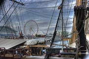 Tall Ships At Navy Pier Print by David Bearden
