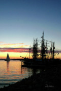 Tall Ships Prints - Tall Ships at Rest Print by Frederic A Reinecke