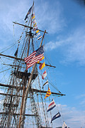 Tall-ships Framed Prints - Tall Ships Banners Framed Print by David Bearden