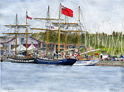 Boats In Water Paintings - Tall Ships Festival by Melly Terpening