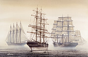 Maritime Greeting Card Framed Prints - Tall Ships Framed Print by James Williamson