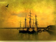 Tall Ships Of Dana Point Print by Kevin Moore