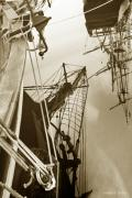 Tall Ships Metal Prints - Tall Ships Reflected Metal Print by Robert Lacy