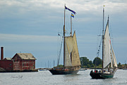 Tall Ships Photos - Tall Ships Sailing II by Suzanne Gaff