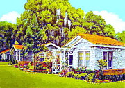 Courts Paintings - Tallahassee Auto Court In Tallahassee Fl 1940s by Dwight Goss