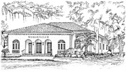 Tallahassee Womens Club Print by Audrey Peaty