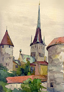 Plain Air Paintings - Tallinn by Natalia Eremeyeva Duarte