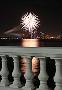 Tampa Bay Fireworks Print by David Lee Thompson