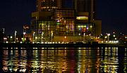 Nightlights Prints - Tampa Bay History Center Print by David Lee Thompson