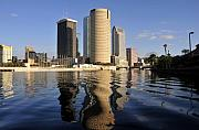 Tampa Skyline Prints - Tampa Florida 2010 Print by David Lee Thompson