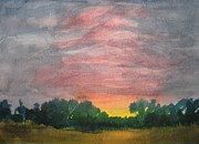 Tampa Painting Originals - Tampa Sunrise by Larry Hamilton