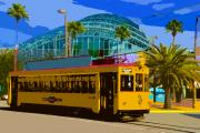 Florida Digital Art - Tampa Trolley by David Lee Thompson