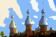 Campus Digital Art Posters - Tampas Minarets Poster by David Lee Thompson