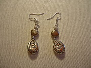Unique Jewelry Jewelry Originals - Tan Love Much Laugh Often Earrings by Jenna Green