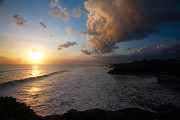 Temple Photos - Tanah Lot Sunset by Mike Reid