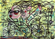 Bicycle Mixed Media Posters - Tandem Poster by Robert Wolverton Jr