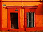 Michael Metal Prints - Tangerine Casa by Michael Fitzpatrick Metal Print by Olden Mexico