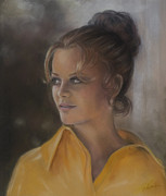 Yellow Pastels - Tangerine by Evie Cook