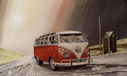 Vw Beetle Originals - Tangerine Flake Streamline Baby by John Lowerson