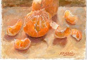 Tangerine Paintings - Tangerine  by Sharen AK Harris