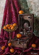 Tangerines Print by Boris Filinov