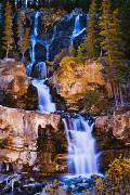 Night Out Framed Prints - Tangle Falls At Dusk, Jasper National Framed Print by Yves Marcoux