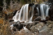 Tangle Falls Closeup 5 Print by Larry Ricker