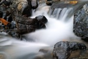 Alberta Water Falls Prints - Tangle Falls Closeup 7 Print by Larry Ricker