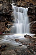 Alberta Water Falls Posters - Tangle Waterfall Alberta Canada Poster by Mark Duffy