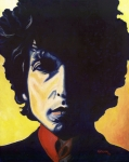 Dylan Paintings - Tangled Up in Blue by Natasha Laurence