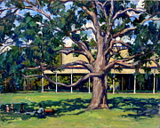 Abstract Realist Landscape Framed Prints - Tanglewood Before the Concert Framed Print by Thor Wickstrom