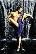 Dancing Posters - Tango Cascade Poster by Richard Young