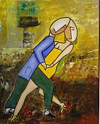 Smiling Mixed Media - Tango dancing by Victor Madero