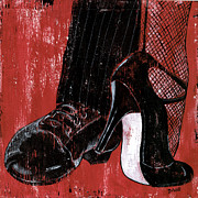 Shoes Painting Framed Prints - Tango Framed Print by Debbie DeWitt