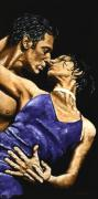 Blue Dress Paintings - Tango Heat by Richard Young