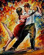 Ballet Originals - Tango In Red by Leonid Afremov