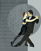 Ballroom Digital Art Posters - Tango Poster by Janet Carlson