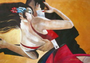 Couples Paintings - Tango by Lelia DeMello