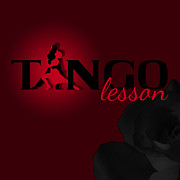 Ballroom Digital Art - Tango Lesson by Graphicsite Luzern